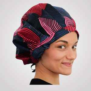 bonnet satin wax réglable cheveux bouclés crépus curly nights