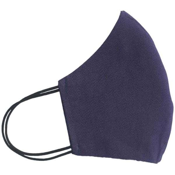 masque anti-projection lavable coton wax coronavirus covid-19 protection visage nez bouche intérieur bleu marine