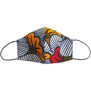 masque anti-projection lavable coton wax coronavirus covid-19 protection visage nez bouche LOVE