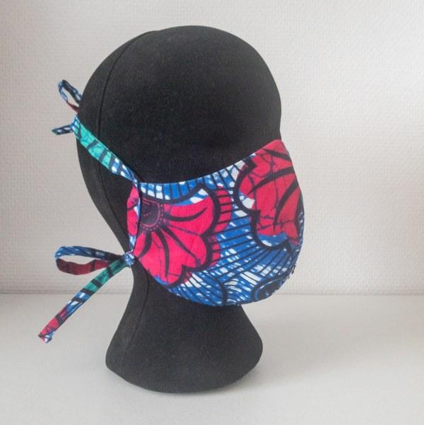 masque anti-projection lavable réglable coton wax coronavirus covid-19 protection visage nez bouche JUNGLE