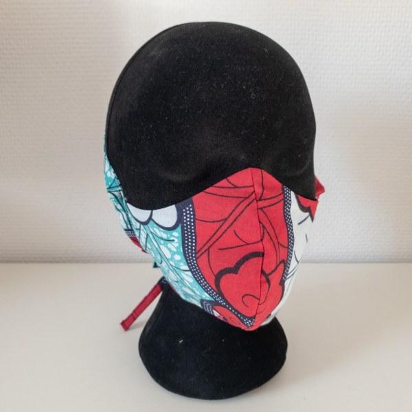 masque anti-projection lavable réglable coton wax coronavirus covid-19 protection visage nez bouche PASTEL