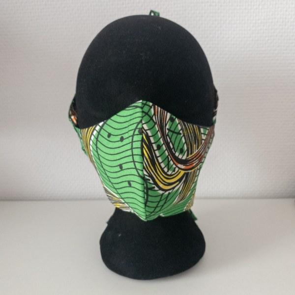 masque anti-projection lavable réglable coton wax coronavirus covid-19 protection visage nez bouche TOURBILLON