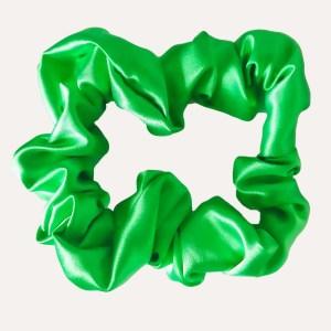 chouchou satin xxl curly nights vert pomme