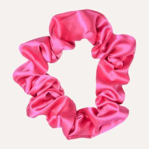 scrunchie xxl satin curly nights fuchsia