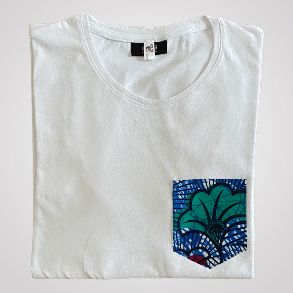 t shirt homme coton wax jungle
