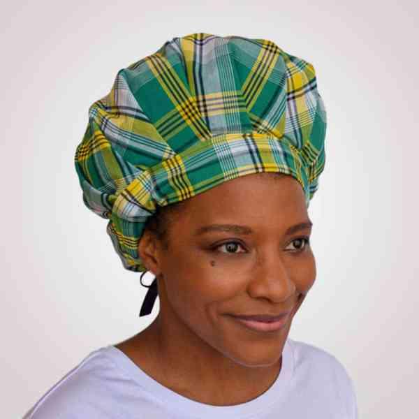 bonnet satin nuit curly nights cheveux bouclés crépus protection madras rouge