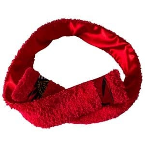 bandeau de sport et cosmétique en satin et éponge curly nights rouge vif
