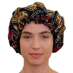 bonnet en satin de nuit élastique curly nights wax ODYSSEE