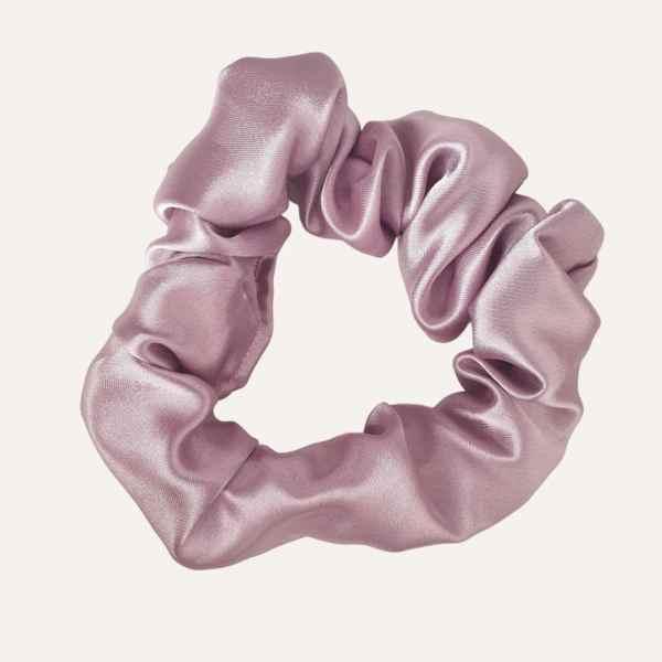 chouchou scrunchie satin curly nights parme violet pastel