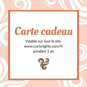 Carte cadeau Curly Nights
