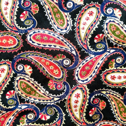 print cachemire paisley schwarz curly nights