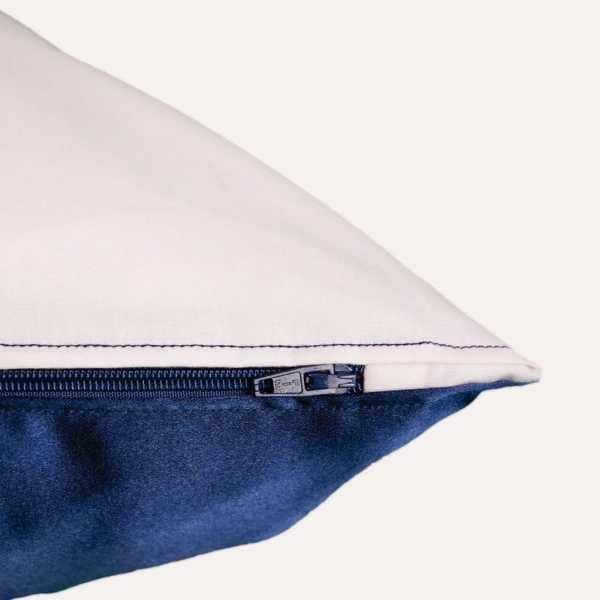 taie d'oreiller double face coton satin unie rose poudré carré rectangulaire