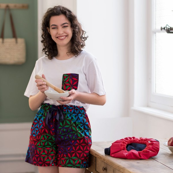 pyjama kaleido curly nights tshirt short wax