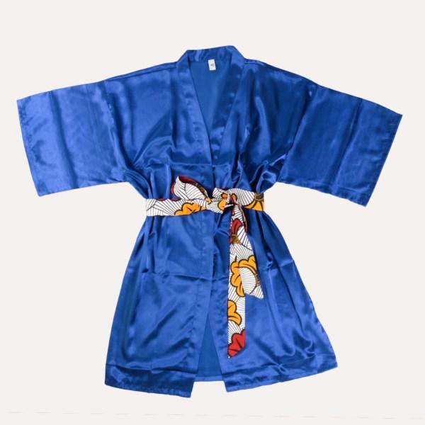 kimono satin ceinture wax fleur de mariage curly nights love