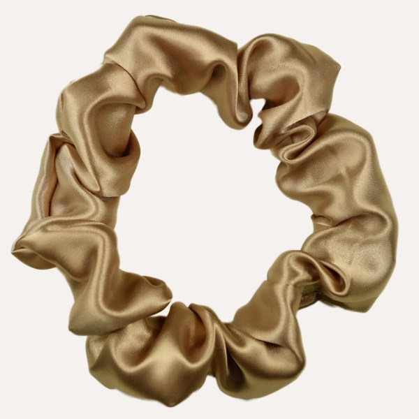 chouchou satin curly nights xxl GOLD