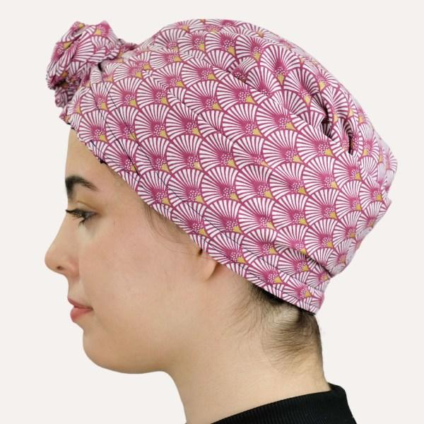 turban satin foulard curly nights miroir doré
