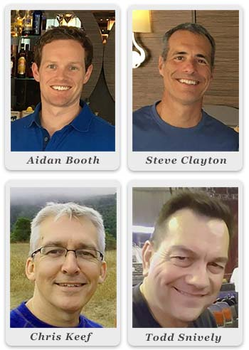 Aidan Booth, Steve Clayton, Chris Keef, and Todd Snively
