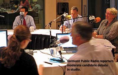 Vermont Public Radio, primary debate, 2010
