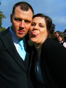 Mick and I pulling a face