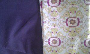 My chosen fabrics for the new bag