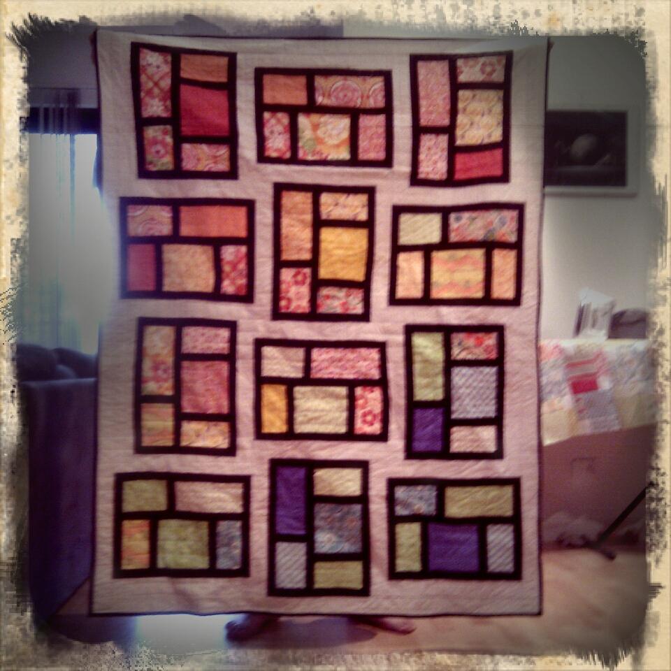 Kitchen window quilt