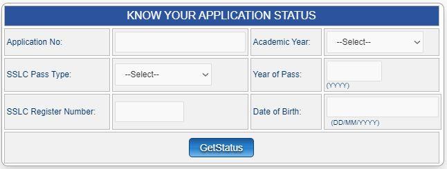 Vidyasiri Scholarship Status
