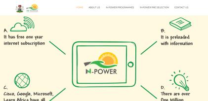 N-Power Dashboard 2020 Official Portal www.portal.npower.gov.ng ...