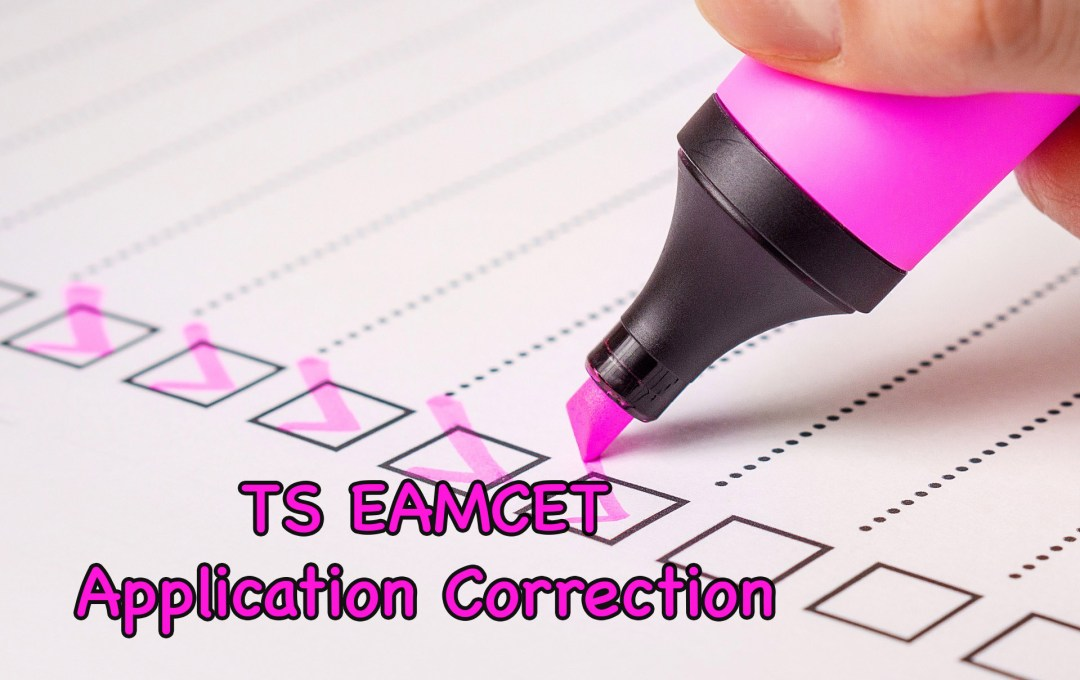 TS EAMCET 2020 Application Form Correction | Correct Here