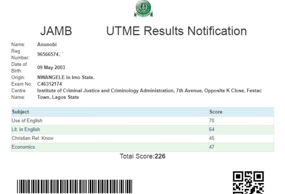 Procedure to Check Your JAMB UTME Result