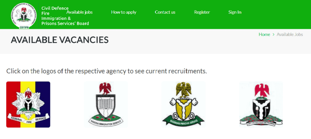 Immigration Recruitment nisrecruitment.name.ng 2021/2022 Application
