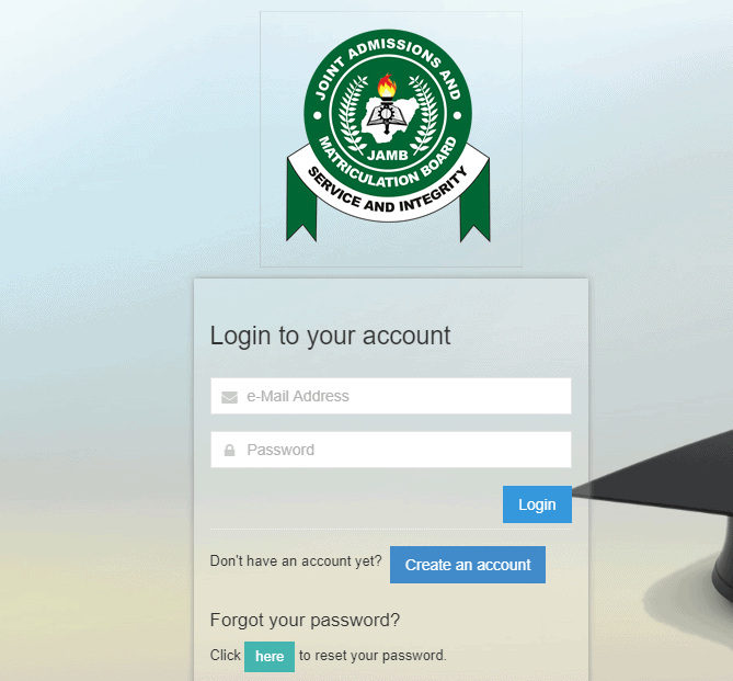 How to Create and Login to JAMB Efacility Portal