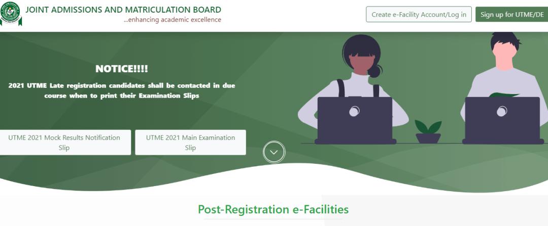 JAMB Result Checker Portal Login 2021