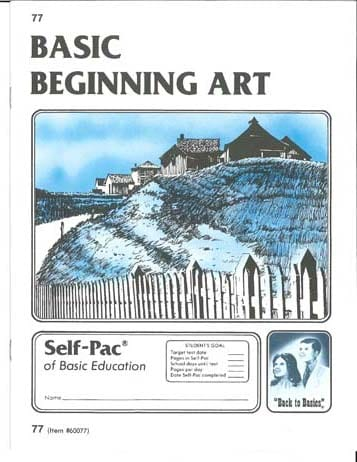 Beginning Art Unit 1 (Pace 73) from Accelerated Christian Education