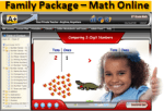 3 Students Family Package Online Edition from A+ Interactive Math