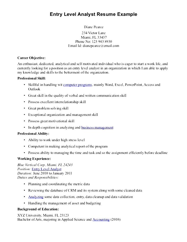 Sample Program Analyst Resume  Program Analyst Resume