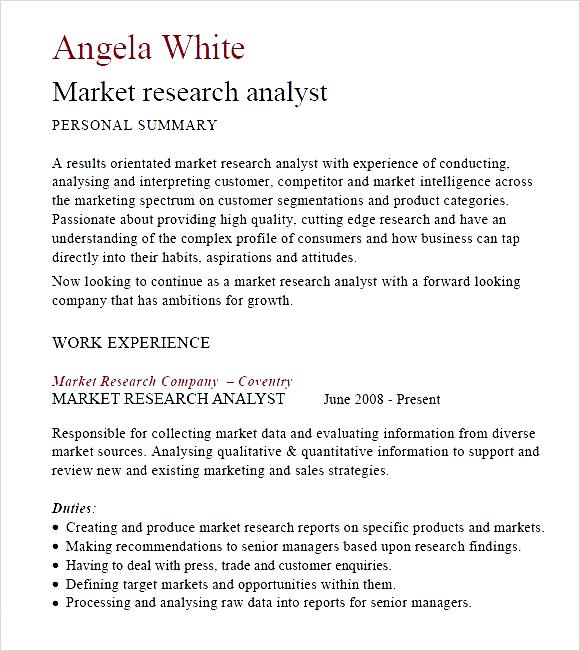 market research resume examples sample resume consumer market - Market Research Resume Sample