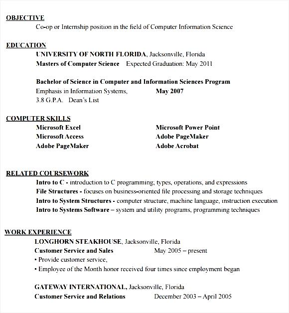 Resume Format For Internship | Resume Format And Resume Maker
