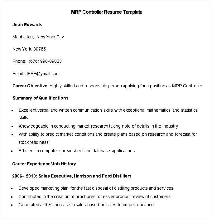 Free Controller Resume Samples. Controller Resume Example