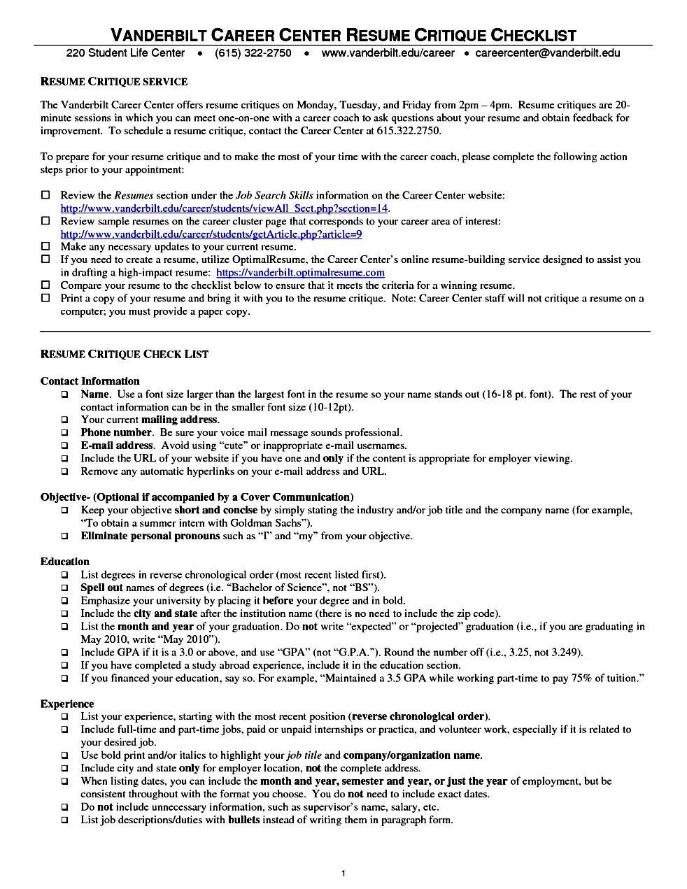 resume critique service