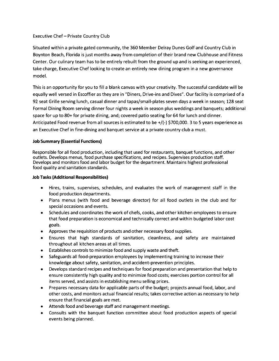 chef resume sample trainee chef resume sample chef resume resume