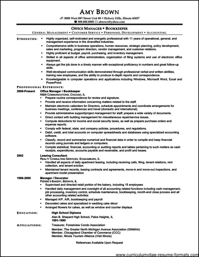 free resume templates for office manager free samples examples
