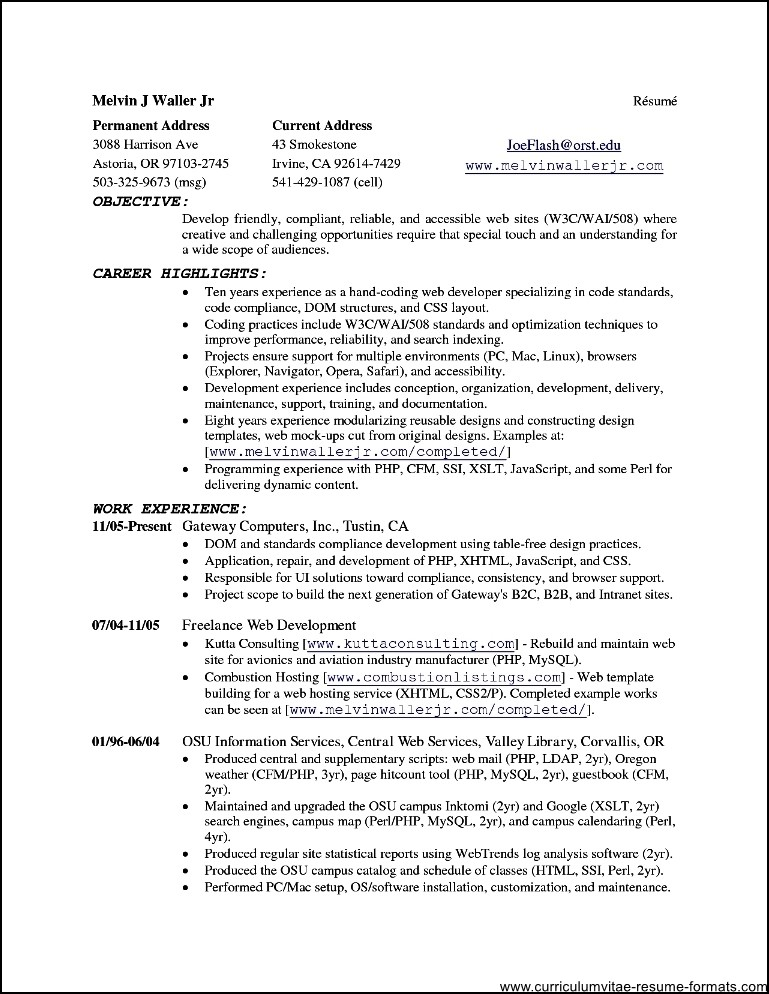 Open Office Templates Resume Free Samples Examples Amp Format