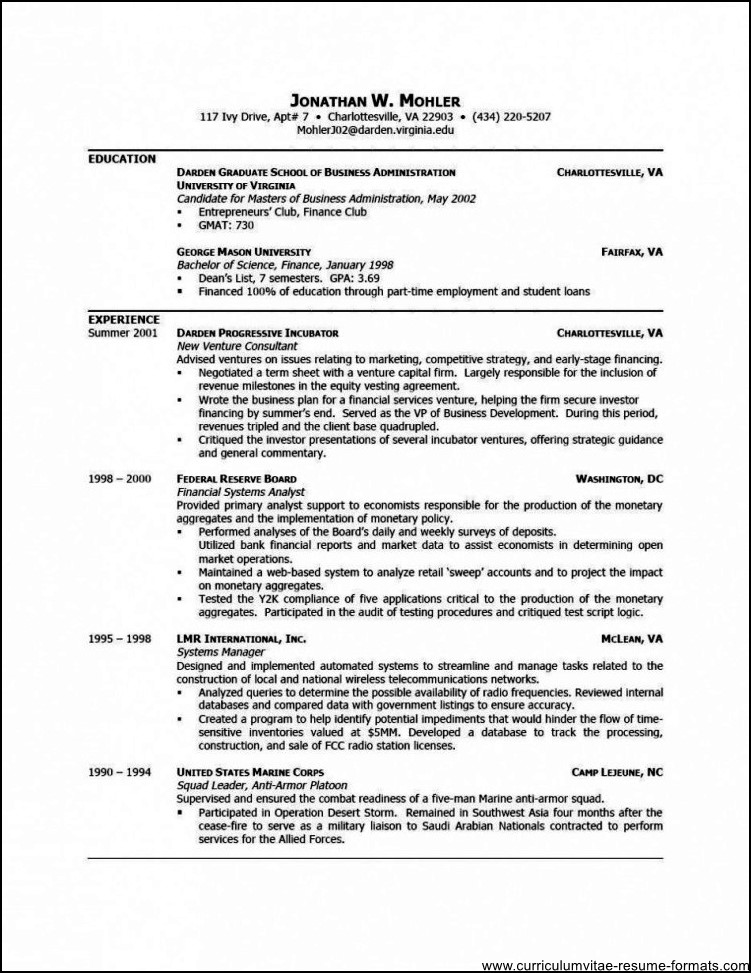 Professional Resume Format In Word Free Download resume templates – Resume Template Word Free Download