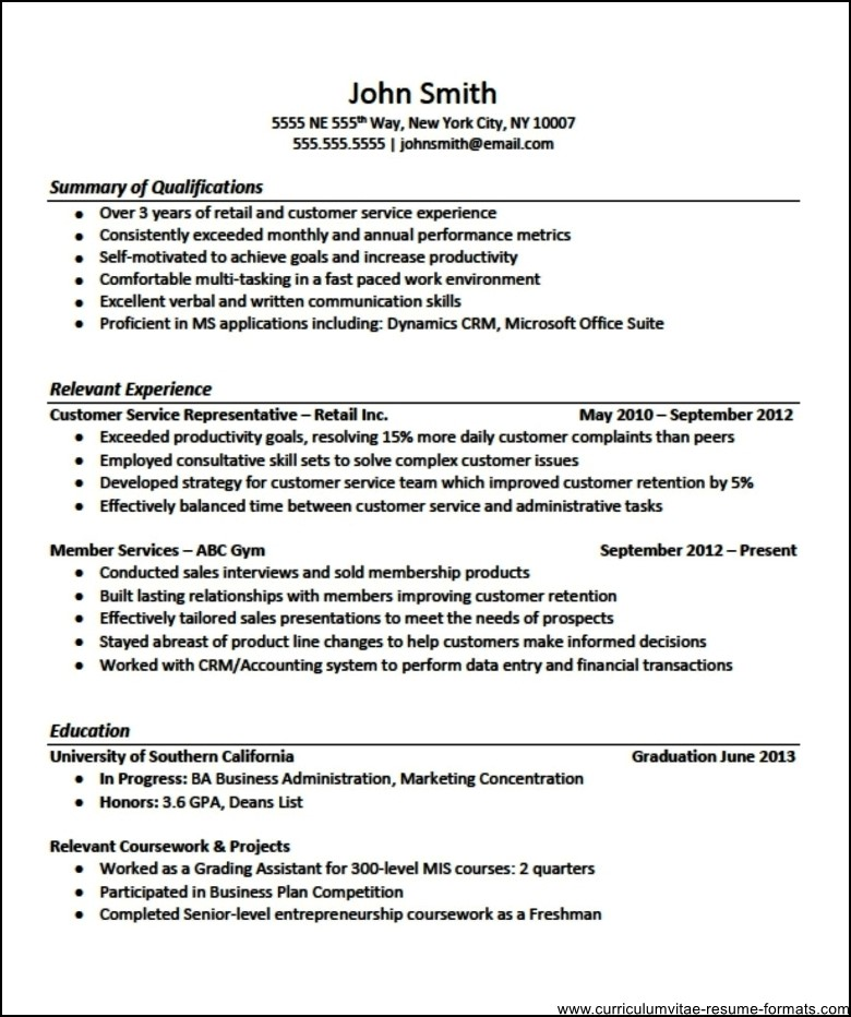 professional resume templates for experienced free samples