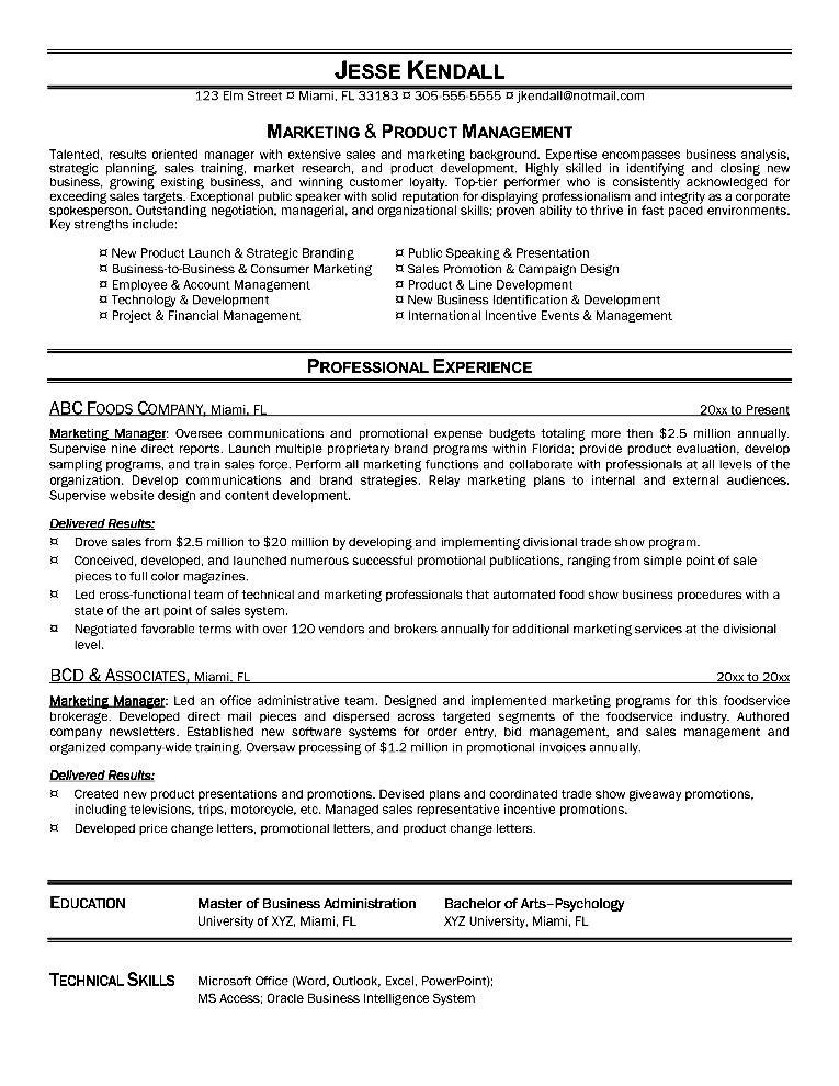resume marketing assistant