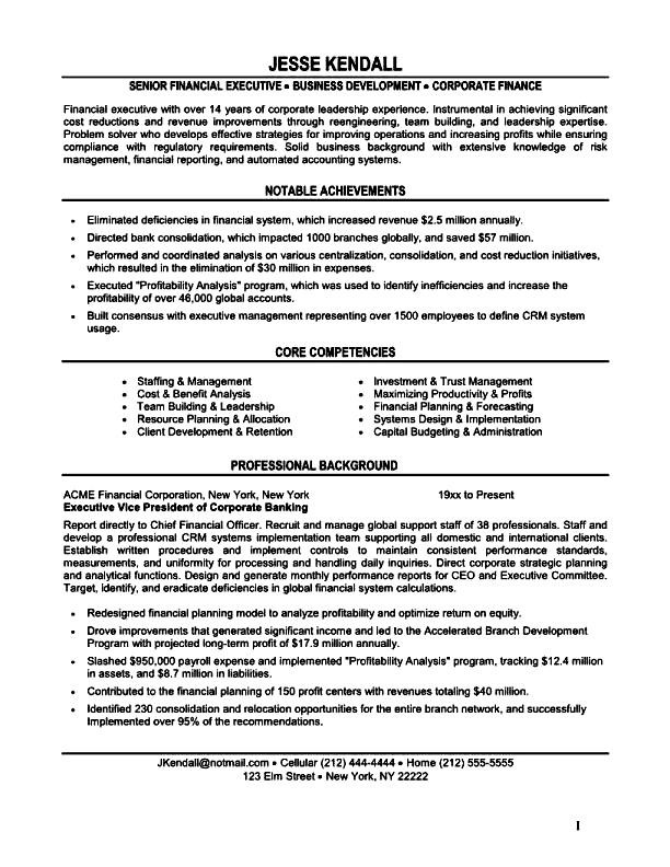 model resume purchase executive