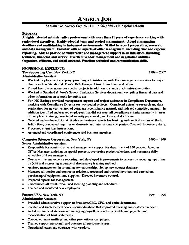 Best Administrative Assistant Resume Examples. Administrative