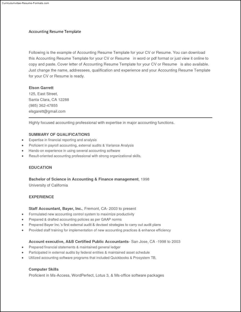 copy and paste resume templates free samples examples amp format