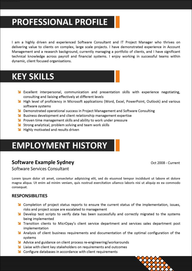 Corporate Resume Template  Resume Sample