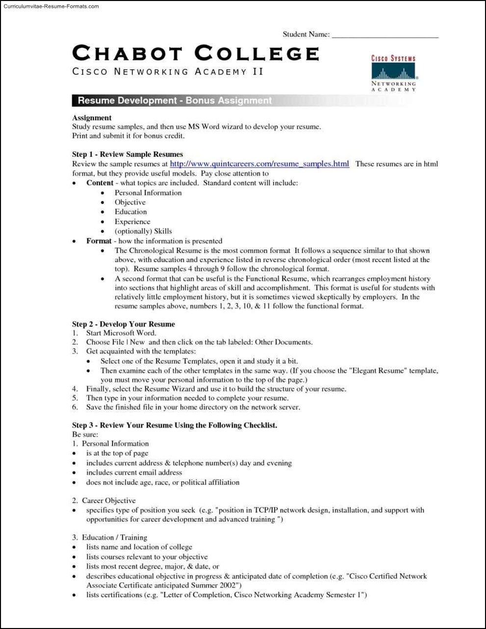 Free Resume Templates For College Students Free Samples